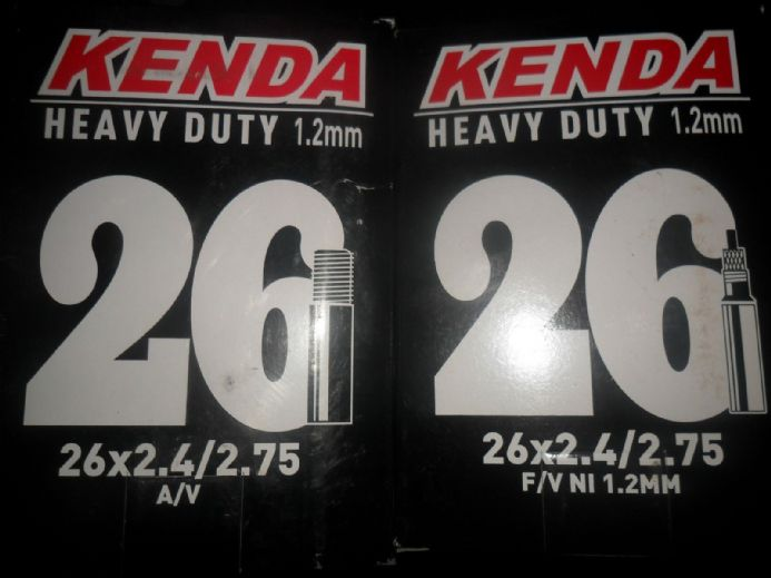 Kenda Heavy Duty Mountain Bike Inner Tube 26x2.4 / 2.75 Schrader or Presta Valve